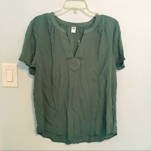 Jade Green flowy short sleeved Blouse